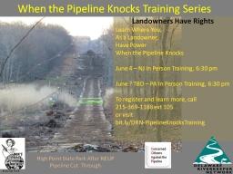 Landowner training event